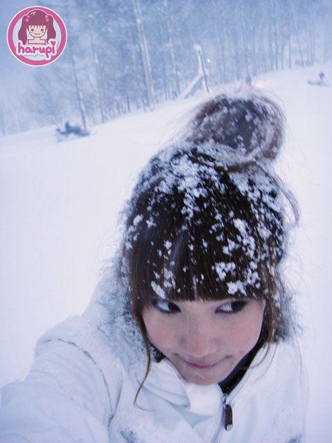 Snow falling on my head