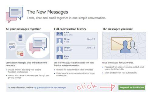 Facebook email invitation