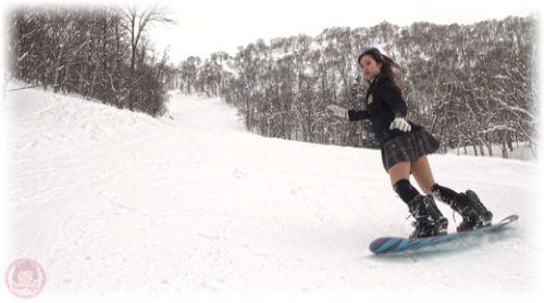 School girl Haruka snowboarding 2