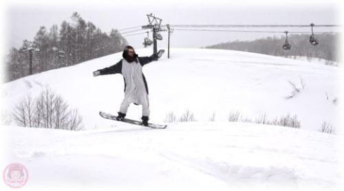 Snowboard Pengin small small jump