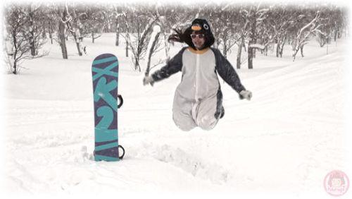 Snowboard Pengin jump