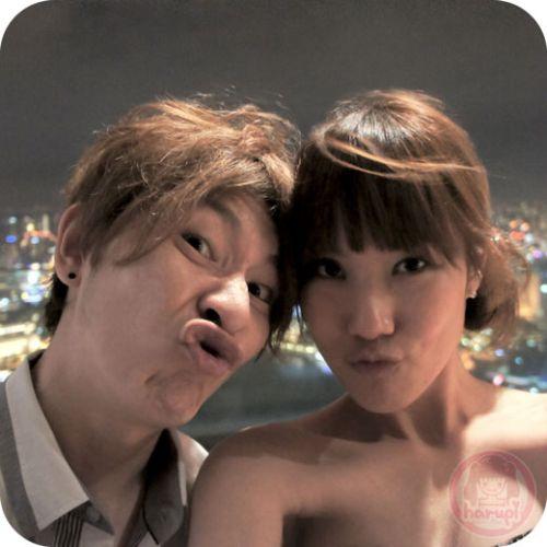 Marina Bay Sands - Yasu & Haruka at Sky Park 4