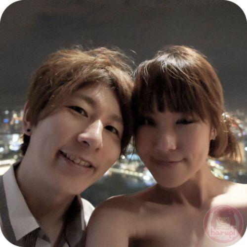 Marina Bay Sands - Yasu and Haruka at Sky Park 1