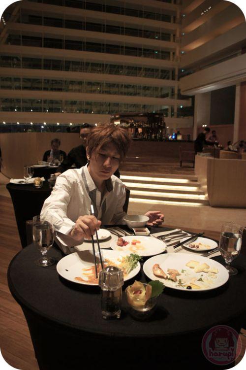 Marina Bay Sands - dinner at Rise restaurant