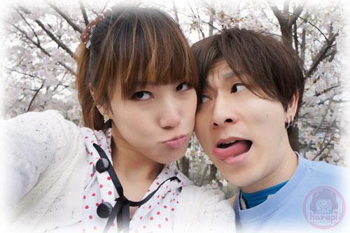 Haruka and Yasu sakura two-shot 4