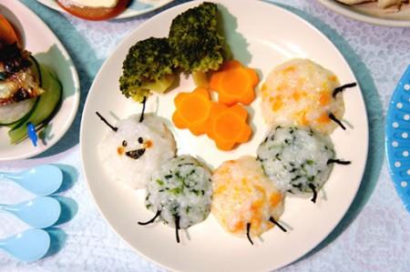 Yuto 1st Birthday - the caterpillar plate 1歳の誕生日の離乳食*いも虫プレート