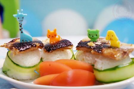 Yuto 1st Birthday - sushi roll