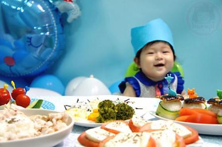 Yuto 1st Birthday - birthday dinner meal time