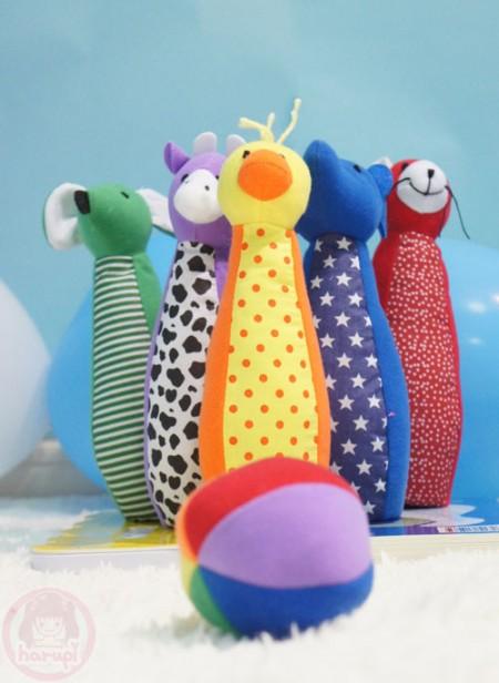 Yuto 1st Birthday - birthday present bowling soft toy