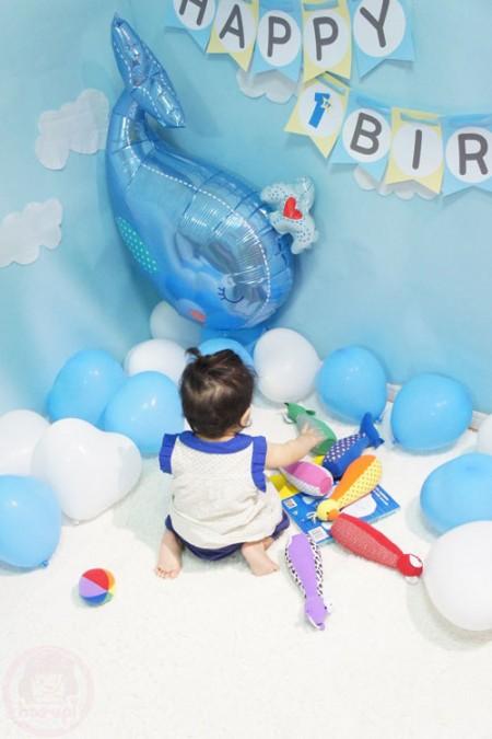 Yuto 1st Birthday - baby bowling was fun