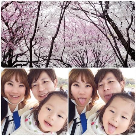 Harupi's family on Showa Kinen Park