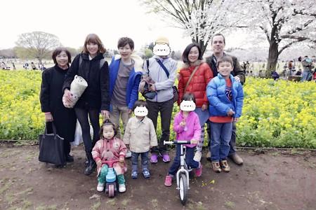 Sakura in Showa Kinen Park with friends 昭和記念公園でお花見