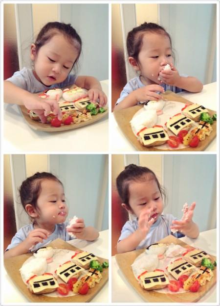 Enjoying birthday plate - taken by Iphone 5