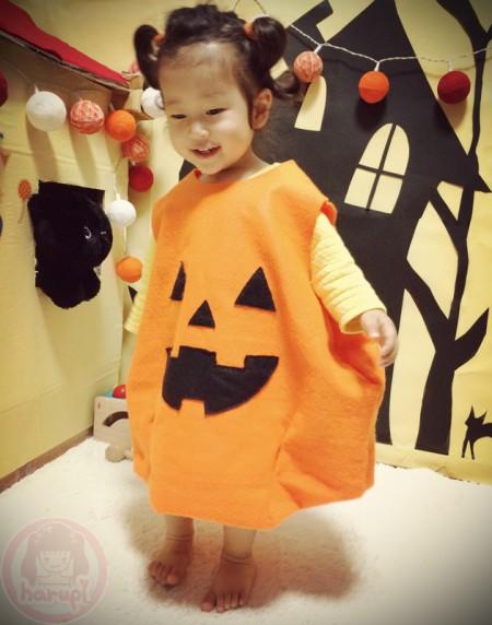 Happy Halloween pumpkin suit