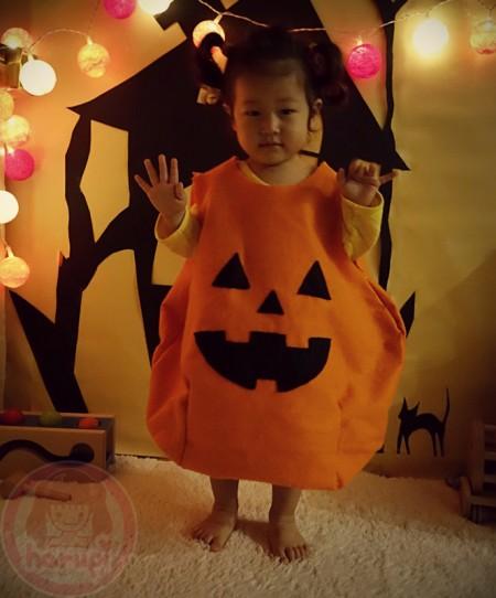 The Halloween baby pumpkin Jack O' Lantern