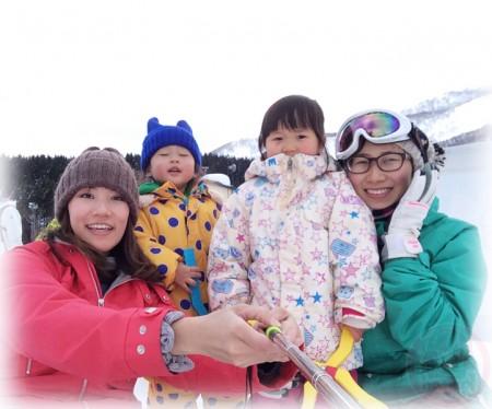 Little-big-boss with mama and Yuki-chan with mama