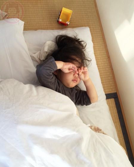 Little-big-boss waking up