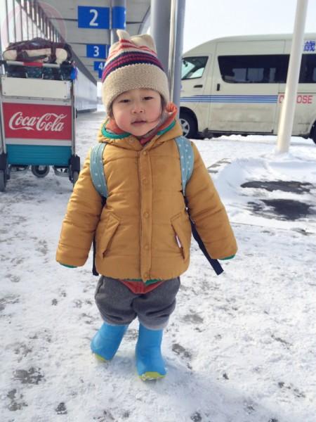 Little-big-boss arriving Hokkaido