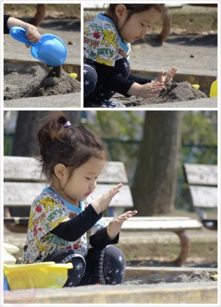 Playing sand at Hirama park 平間公園で砂遊び