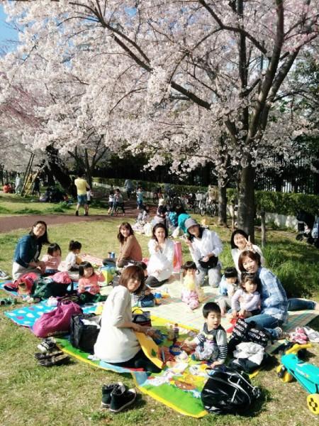 The hanami gathering!