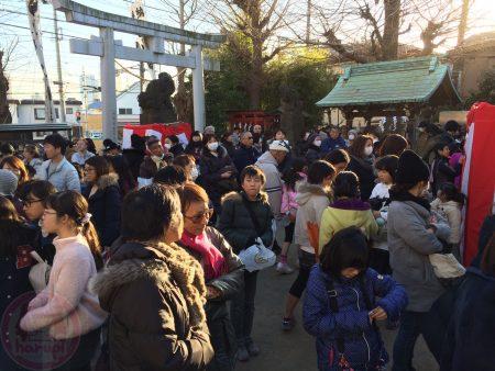 Crowd! For Setsubun festival